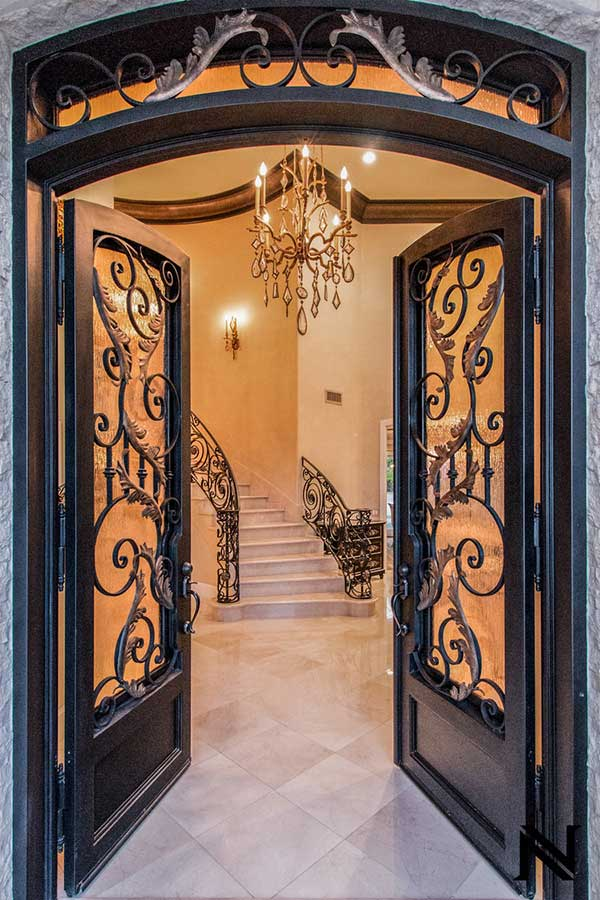 Beautiful-Hand-Forged-Wrought-Iron-Front-Entry-by-Baltic-Iron-Doors